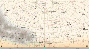 6月の星図(白)