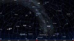 8月の星図(黒)
