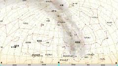 8月の星図(白)