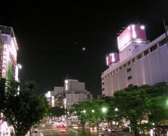 2007年6月18日仙台青葉通りの月と金星