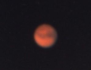 小型天体望遠鏡で撮影した火星(1999年)