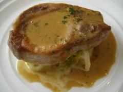 つくば味麗豚ロース肉のポワレ