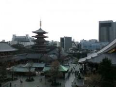 屋上から見える浅草寺近辺