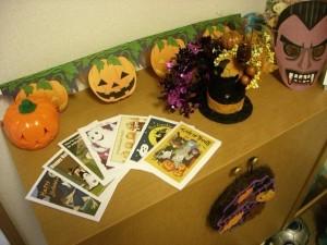 手作り感いっぱいのハロウィン装飾