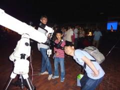 原村星まつりでの夜の観望会の様子