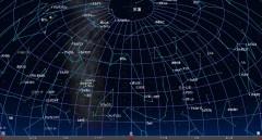 3月の星空(北方向背景黒)