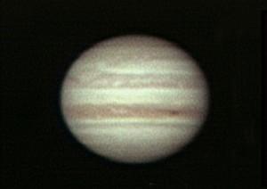 木星にはしま模様が見える 撮影:浦辺守