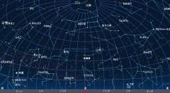 4月の星空(北方向、背景黒)