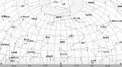 4月の星空(北方向、背景白)