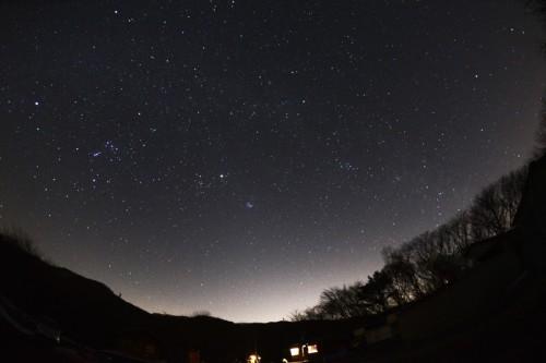8秒露出で星空を写す