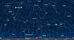 7月の星空(背景黒)