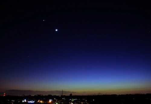 2008年に見られた金星と月の接近