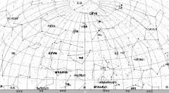 9月の星空(背景白)
