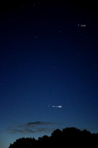 11月21日に福島県いわき市内で撮影したアイソン彗星