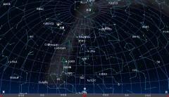2月の星空(背景黒)