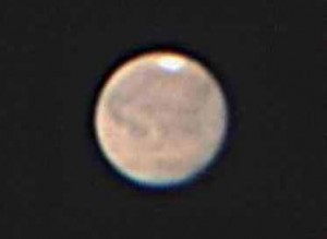 大接近時にとらえた火星の表面模様