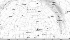 10月の星空(背景白)