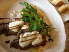 牛肉のカツレツ チーズ焼き