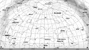 11月の星空(背景白)