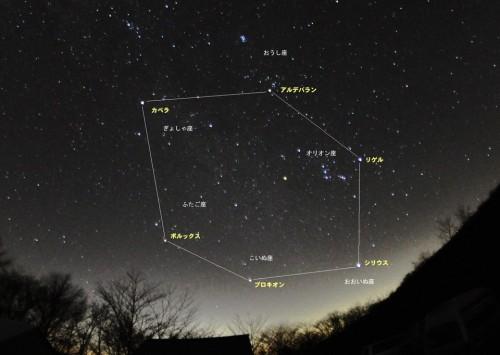 本物の星空で星座や冬の六角形をぜひ確認しましょう