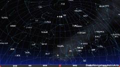 3月の星空(背景黒)
