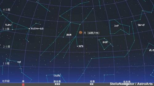 150404皆既月食21時(ちょうどの位置星図)l