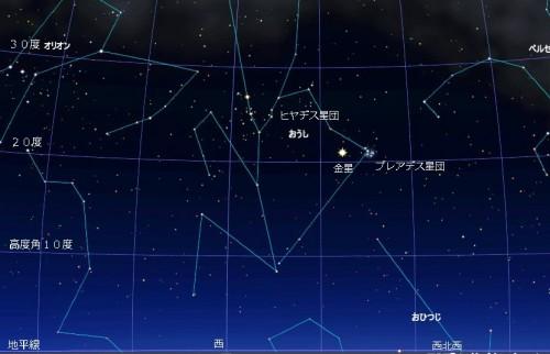 150412金星とプレアデスの接近l