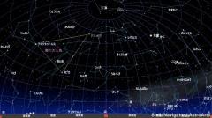 4月の星空(背景黒)