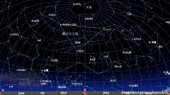 5月の星空(背景黒)