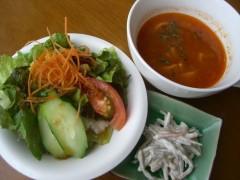 セットのサラダ・スープ・小鉢