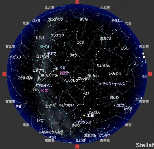 全天の星の地図(株)アストロアーツの許諾を受け、ステラナビゲータ10から転載