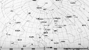 2月の星空(背景白)