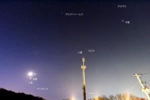 1月7日の明け方の空