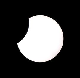 2004年10月14日に見られた部分日食