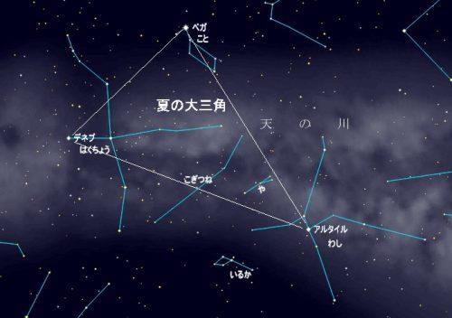 夏の大三角付近の星座
