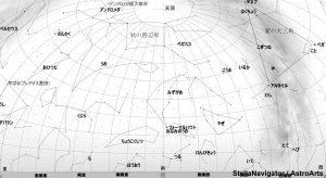 10月の南の星空(背景白)