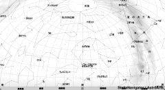 11月の南の星空(背景白)
