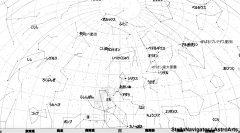 2月の南の星空(背景白)