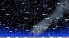 3月の南の星空(背景黒)