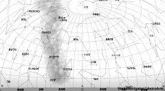 2月の北の星空(背景白)