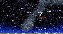2月の南の星空(背景黒)